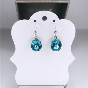 ♡ 2 for 20$ ♡ Sky Blue Gemstone Pendant Earrings